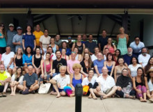 Group photo with Samantha Claire at Rythmia Retreat Centre