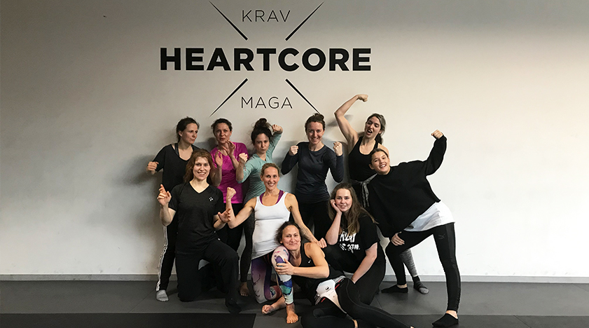 Sam with the team of women who did the Heartcore workshop.