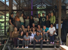 Group photo of retreat participants in the Amazon