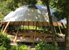 Retreat space in forest