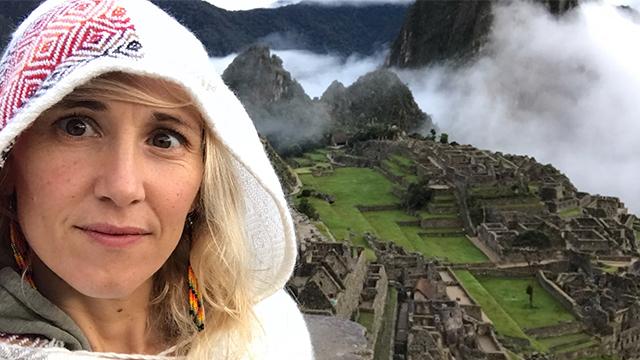 Sam at Machu Picchu